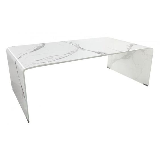 Table basse design verre décor marbre - Kingston