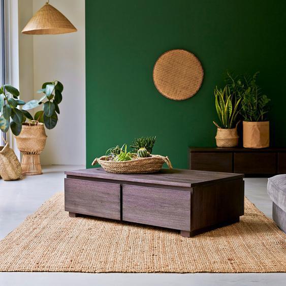 Table basse en bois dacajou 100x60 Eva