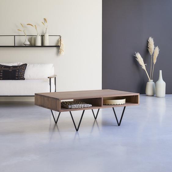 Table basse en bois de noyer 115x70 Metric