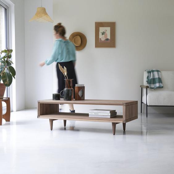 Table basse en bois de noyer 120x50 Jonàk