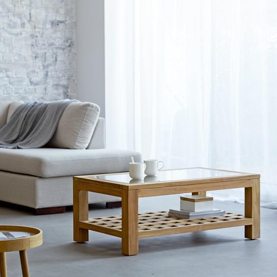 Table basse en bois de teck 100x60 Kwad