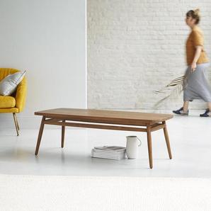 Table basse en bois de teck 120x50 Twist