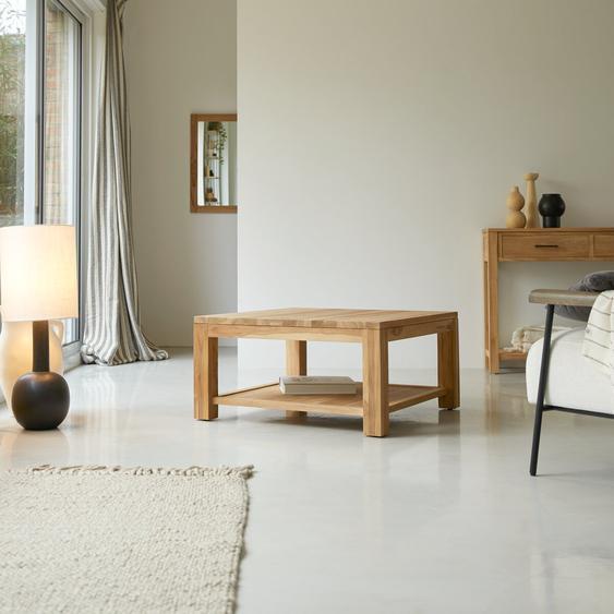 Table basse en bois de teck 80x80 Eve