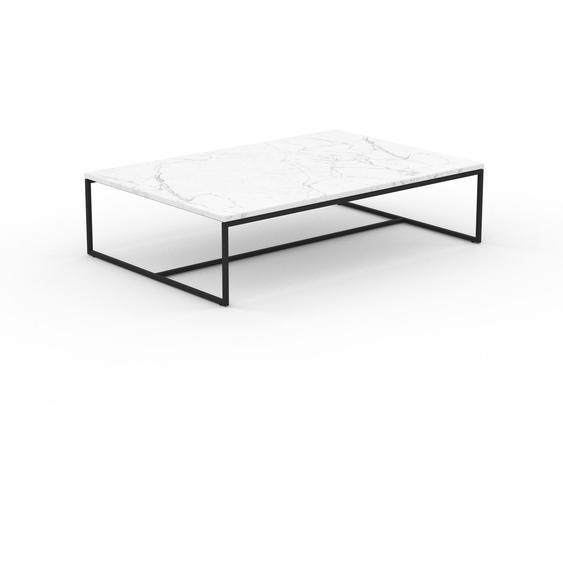 Table basse en marbre Blanc Carrara, design contemporain, bout de canapé luxueux et sophistiqué - 121 x 31 x 81 cm, personnalisable