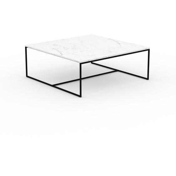 Table basse en marbre Blanc Carrara, design contemporain, bout de canapé luxueux et sophistiqué - 121 x 46 x 121 cm, personnalisable