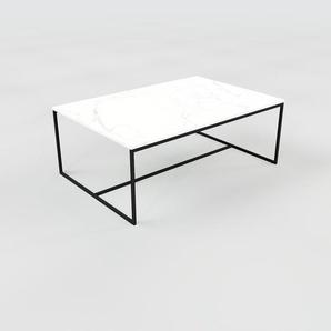 Table basse en marbre Blanc Carrara, design contemporain, bout de canapé luxueux et sophistiqué - 121 x 46 x 81 cm, personnalisable