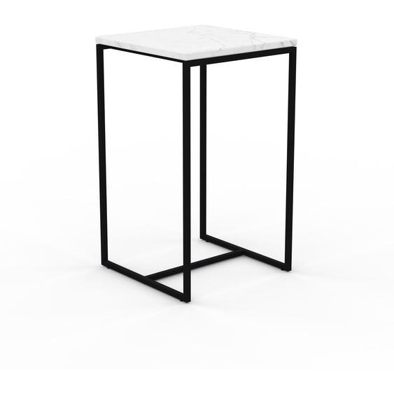 Table basse en marbre Blanc Carrara, design contemporain, bout de canapé luxueux et sophistiqué - 42 x 71 x 42 cm, personnalisable