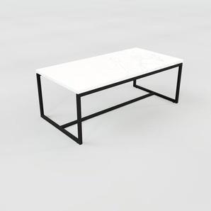 Table basse en marbre Blanc Carrara, design contemporain, bout de canapé luxueux et sophistiqué - 81 x 31 x 42 cm, personnalisable