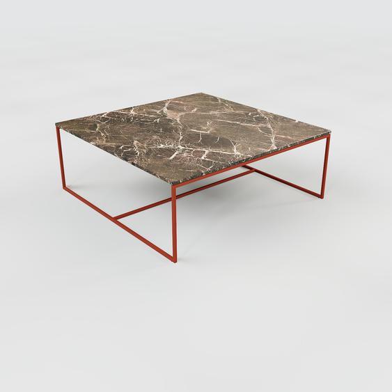 Table basse en marbre Marron Emperador, design contemporain, bout de canapé luxueux et sophistiqué - 121 x 46 x 121 cm, personnalisable