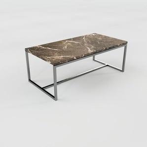 Table basse en marbre Marron Emperador, design contemporain, bout de canapé luxueux et sophistiqué - 81 x 31 x 42 cm, personnalisable