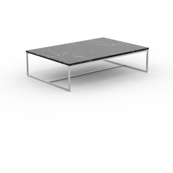 Table basse en marbre Noir Marquina, design contemporain, bout de canapé luxueux et sophistiqué - 121 x 31 x 81 cm, personnalisable