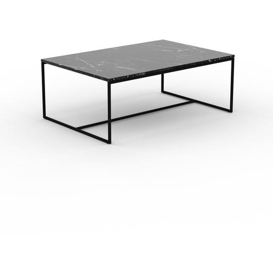 Table basse en marbre Noir Marquina, design contemporain, bout de canapé luxueux et sophistiqué - 121 x 46 x 81 cm, personnalisable