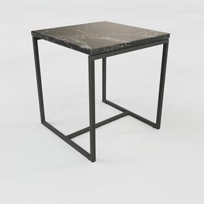 Table basse en marbre Noir Marquina, design contemporain, bout de canapé luxueux et sophistiqué - 42 x 46 x 42 cm, personnalisable