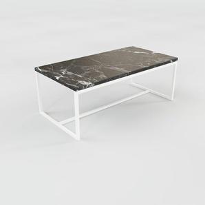 Table basse - noir Marquina, design, bout de canapé sophistiqué - 81 x 31 x 42 cm, personnalisable