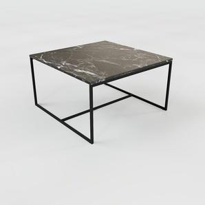 Table basse en marbre Noir Marquina, design contemporain, bout de canapé luxueux et sophistiqué - 81 x 46 x 81 cm, personnalisable