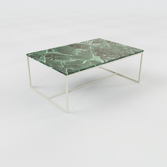 Table basse en marbre Vert Guatemala, design contemporain, bout de canapé luxueux et sophistiqué - 121 x 46 x 81 cm, personnalisable