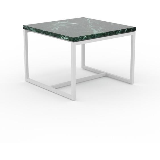 Table basse en marbre Vert Guatemala, design contemporain, bout de canapé luxueux et sophistiqué - 42 x 31 x 42 cm, personnalisable
