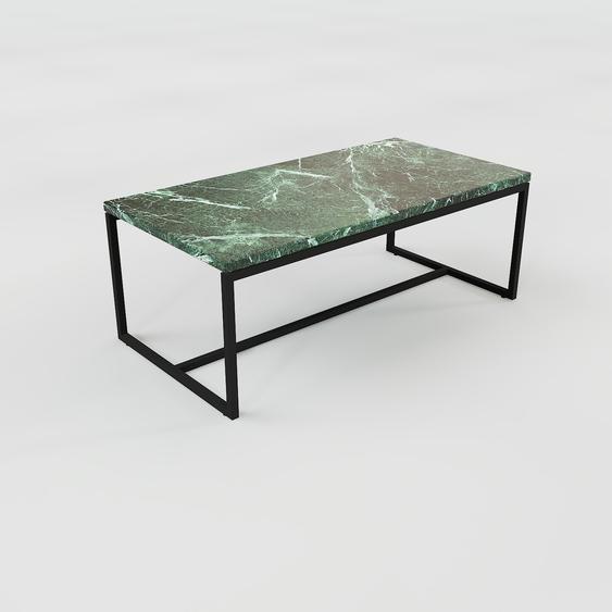 Table basse en marbre Vert Guatemala, design contemporain, bout de canapé luxueux et sophistiqué - 81 x 31 x 42 cm, personnalisable