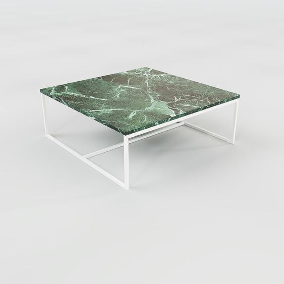 Table basse en marbre Vert Guatemala, design contemporain, bout de canapé luxueux et sophistiqué - 81 x 31 x 81 cm, personnalisable