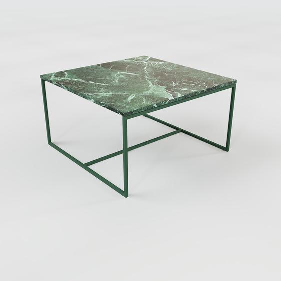 Table basse en marbre Vert Guatemala, design contemporain, bout de canapé luxueux et sophistiqué - 81 x 46 x 81 cm, personnalisable