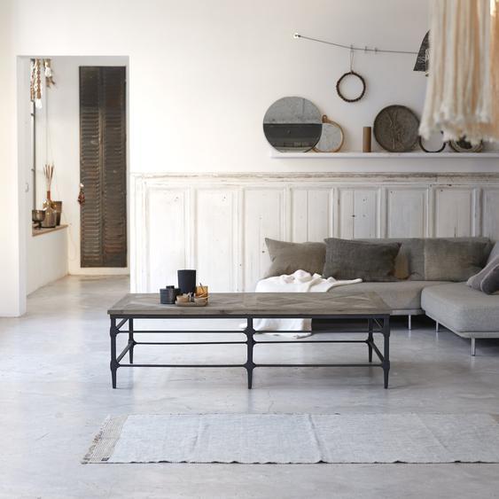 Table basse en métal et bois dorme 160x90 Gatsby