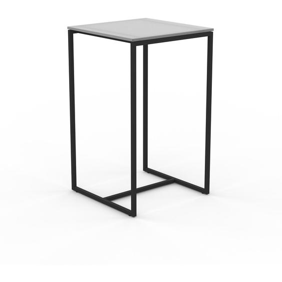 Table basse en Verre clair dépoli, design industriel, bout de canapé raffiné - 42 x 71 x 42 cm, personnalisable