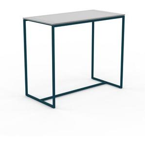 Table basse en Verre clair dépoli, design industriel, bout de canapé raffiné - 81 x 71 x 42 cm, personnalisable