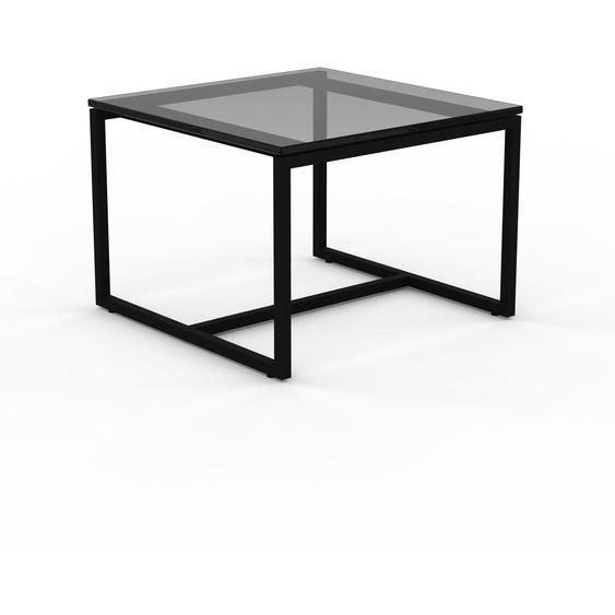 Table basse en Verre fumé dépoli, design industriel, bout de canapé raffiné - 42 x 31 x 42 cm, personnalisable