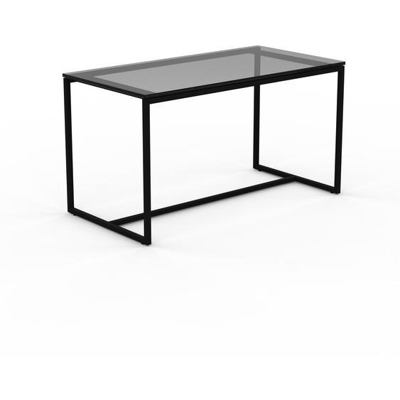 Table basse en Verre fumé dépoli, design industriel, bout de canapé raffiné - 81 x 46 x 42 cm, personnalisable