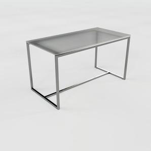 Table basse - verre fumé dépoli, design, bout de canapé sophistiqué - 81 x 46 x 42 cm, personnalisable