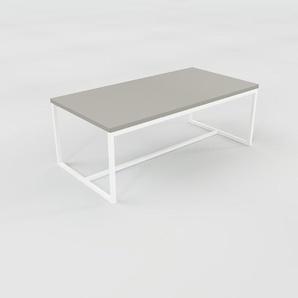 Table basse - gris, design, bout de canapé sophistiqué - 81 x 31 x 42 cm, personnalisable