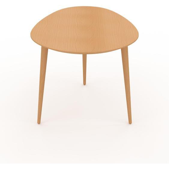 Table basse - Hêtre, ovale, design scandinave, petite table pour salon élégante - 67 x 47 x 50 cm, personnalisable
