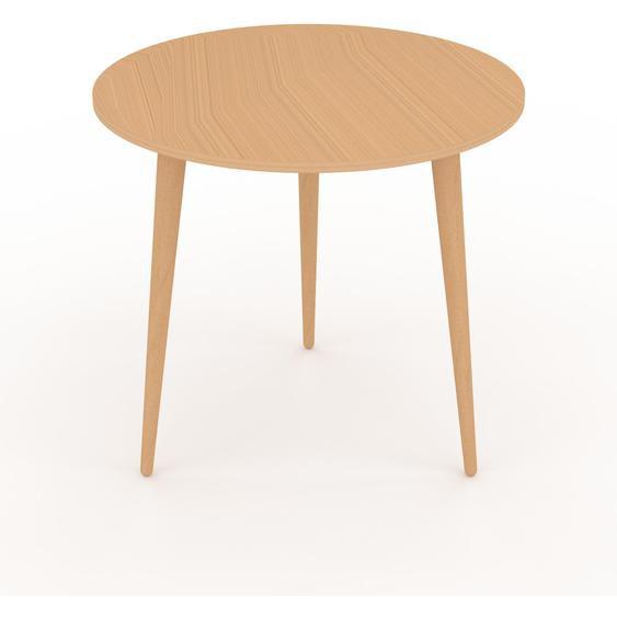 Table basse - Hêtre, ronde, design scandinave, petite table pour salon élégante - 50 x 47 x 50 cm, personnalisable