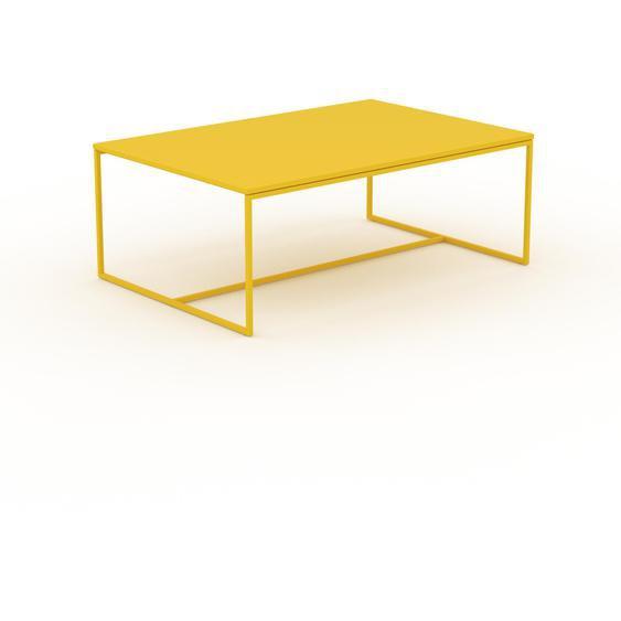 Table basse - Jaune citron, design, bout de canapé sophistiqué - 121 x 46 x 81 cm, personnalisable