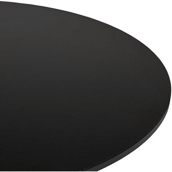 Table basse lounge HOUSTON noire - Ø 90 cm