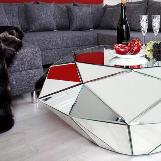 Table basse moderne miroir diamant - Tove