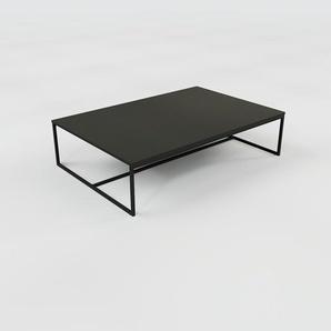 Table basse - noir, design, bout de canapé sophistiqué - 121 x 31 x 81 cm, personnalisable