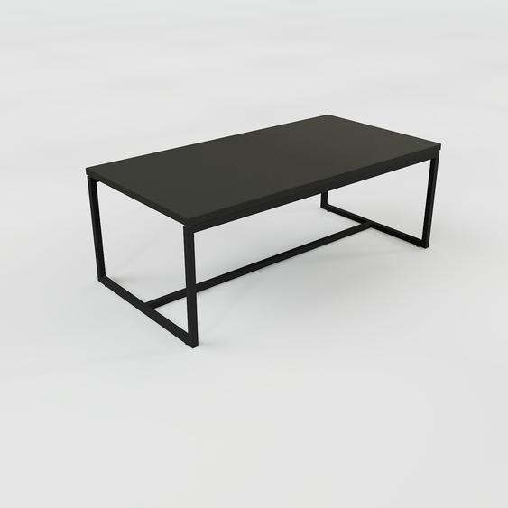 Table basse - Noir, design, bout de canapé sophistiqué - 81 x 31 x 42 cm, personnalisable