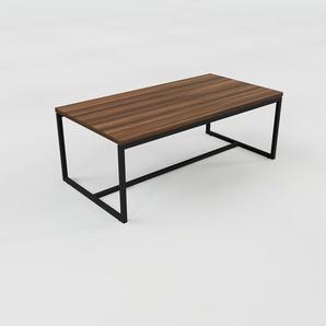 Table basse - Noyer, design, bout de canapé sophistiqué - 81 x 31 x 42 cm, personnalisable