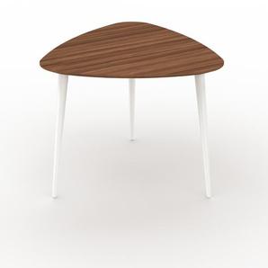 Table basse - Noyer, triangulaire, design scandinave, petite table pour salon élégante - 59 x 50 x 61 cm, personnalisable