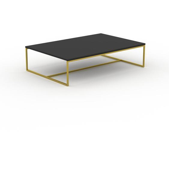 Table basse - NULL avec des jambes dorées, 121, design scandinave, petite table pour salon élégante - 121 x 31 x 81 cm, personnalisable
