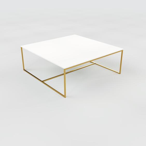 Table basse - NULL avec des jambes dorées, 121, design scandinave, petite table pour salon élégante - 121 x 46 x 121 cm, personnalisable