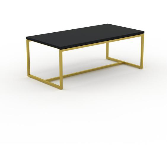 Table basse - NULL avec des jambes dorées, 81, design scandinave, petite table pour salon élégante - 81 x 31 x 42 cm, personnalisable
