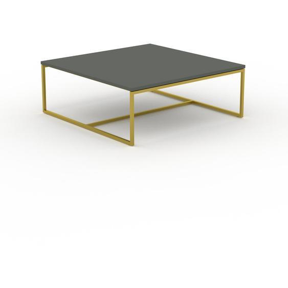 Table basse - NULL avec des jambes dorées, 81, design scandinave, petite table pour salon élégante - 81 x 31 x 81 cm, personnalisable