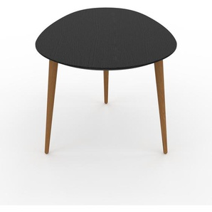 Table basse - Noir, ovale, design scandinave, petite table pour salon élégante - 67 x 44 x 50 cm, personnalisable