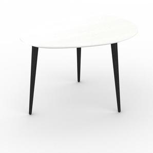 Table basse - blanc, ovale, design scandinave, petite table pour salon élégante - 67 x 44 x 50 cm, personnalisable