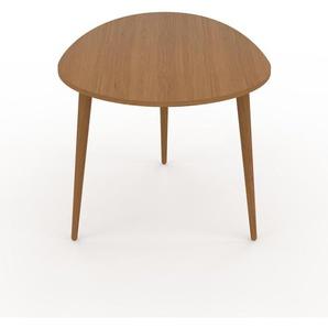 Table basse - Chêne, ovale, design scandinave, petite table pour salon élégante - 67 x 47 x 50 cm, personnalisable