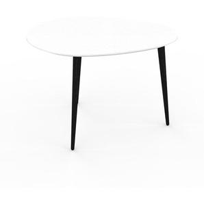 Table basse - Blanc, ovale, design scandinave, petite table pour salon élégante - 67 x 47 x 50 cm, personnalisable