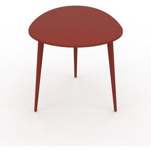 Table basse - rouge, ovale, design scandinave, petite table pour salon élégante - 67 x 50 x 50 cm, personnalisable