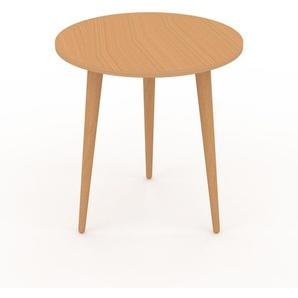 Table basse - Hêtre, ronde, design scandinave, petite table pour salon élégante - 40 x 44 x 40 cm, personnalisable